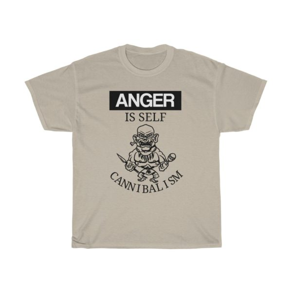 custom design unisex t-shirt-anger is self cannibalism grey