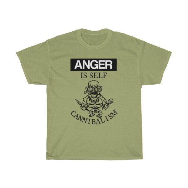 custom design unisex t-shirt-anger quote-anger is self cannibalism sand