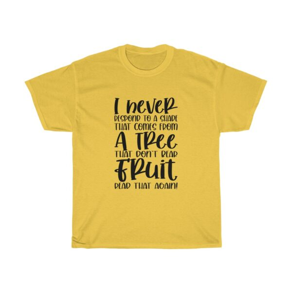 Funny Customised Unique Expression Sarcasm Unisex Heavy Cotton T-shirt yellow