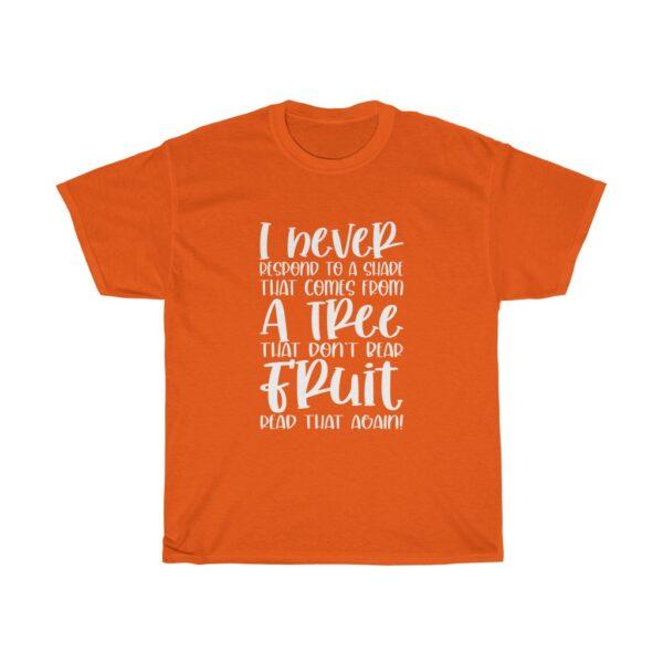 Funny Customised Unique Expression Sarcasm Unisex Heavy Cotton T-shirt orange