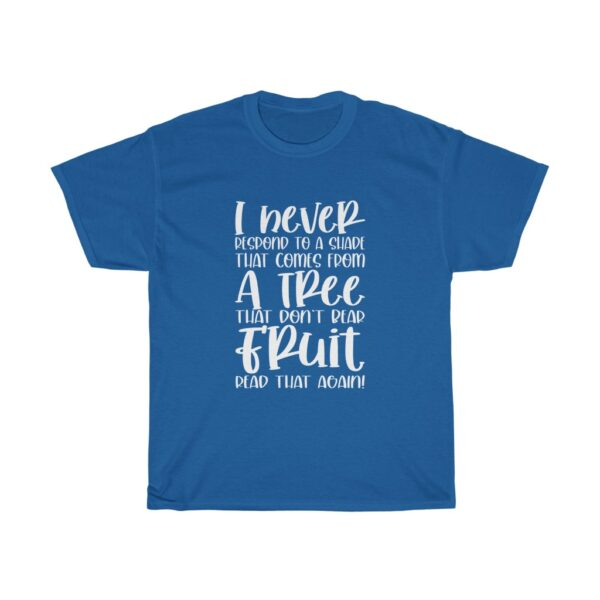 Funny Customised Unique Expression Sarcasm Unisex Heavy Cotton T-shirt blue