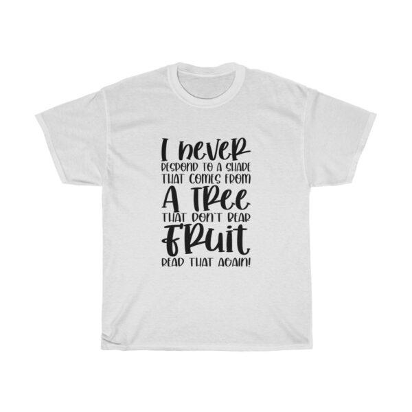 Funny Customised Unique Expression Sarcasm Unisex Heavy Cotton T-shirt white