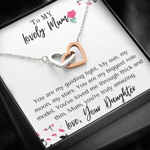 Amazing Mum Mothers Day Gift - Cubic Zirconia Stones, Interlocked Necklace1a