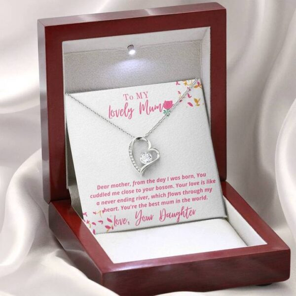 Best Mothers Day Gift For Mums - Forever Love Necklace1e-mahogany